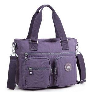 Laptop organizer bag plum purple
